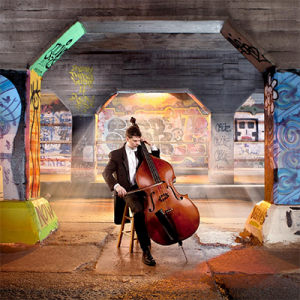 Man with Cello in Tunnel