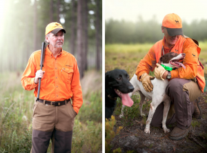 Man Hunting with Dogs