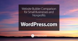Website Builder Comparison for Small Businesses and Nonprofits: WordPress.com